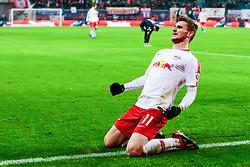 LEIPZIG, Dec. 17, 2018  Timo Werner of Leipzig celebrates his scoring during the Bundesliga match between RB Leipzig and FSV Mainz 05 in Leipzig, Germany, Dec. 16, 2018. Leipzig won 4-1. (Credit Image: © Kevin Voigt/Xinhua via ZUMA Wire)