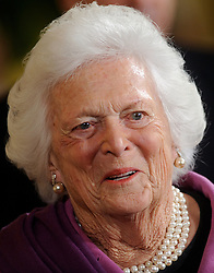 Former First Lady Barbara Bush attends the 2010 Medal of Freedom in a ceremony of the East Room  February 15, 2011  at the White House in Washington, DC. <br /> Photo by Olivier Douliery/ABACAPRESS.COM  | 263823_013 Washington Etats-Unis United States