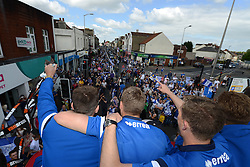 Players look on during the Bristol Rovers celebration tour - Photo mandatory by-line: Dougie Allward/JMP - Mobile: 07966 386802 - 25/05/2015 - SPORT - Football - Bristol - Bristol Rovers Bus Tour
