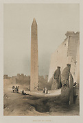 Luxor 1846 Color lithograph by David Roberts (1796-1864). An engraving reprint by Louis Haghe was published in a the book 'The Holy Land, Syria, Idumea, Arabia, Egypt and Nubia. in 1855 by D. Appleton & Co., 346 & 348 Broadway in New York.