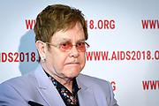 AIDS2018 Persconferentie Elton John Aids Foundation.<br /> <br /> AIDS2018 Press Conference Elton John Aids Foundation.<br /> <br /> Op de foto: Elton John