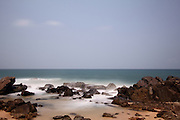 Long exposure shots of the beaches of the Jetwing Lighthouse Hotel in Galle, southern Sri Lanka