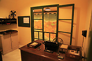Office and map planning invasion of Sicily, Lascaris War Rooms underground museum, Valletta, Malta