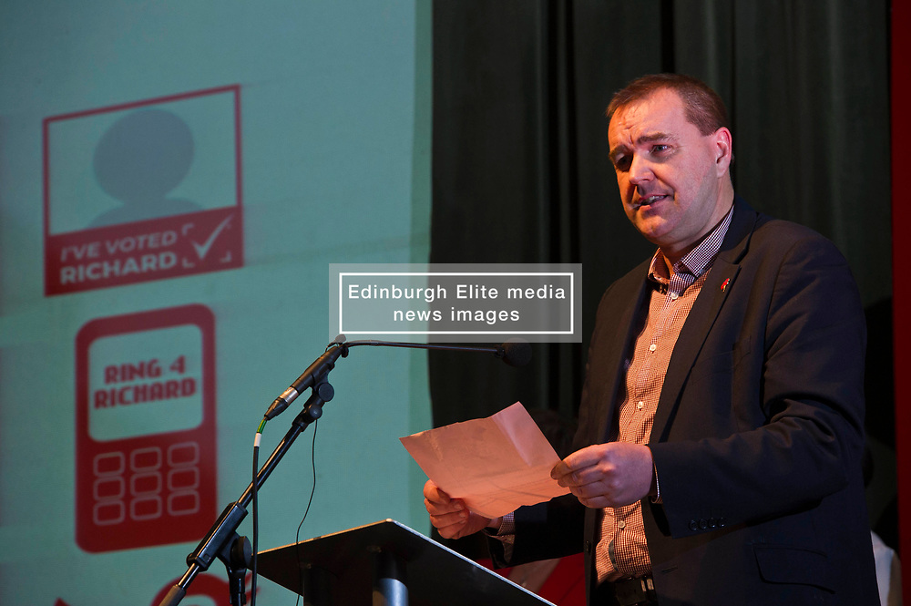 Pictured: Neil Finlay, MSP<br /> The Scottish Labour leadership candidate Richard Leonard visited Stirling tonight for a rally supported by  members from across the Labour and trades union movement includingMonica Lennon MSP, Neil Findlay MSP, Claudia Beamish MSP, Rhoda Grant MSP, Danielle Rowley MP, Hugh Gaffney MP, and comedian Susan Morrison<br /> <br /> Ger Harley   EEm 30 October 2017