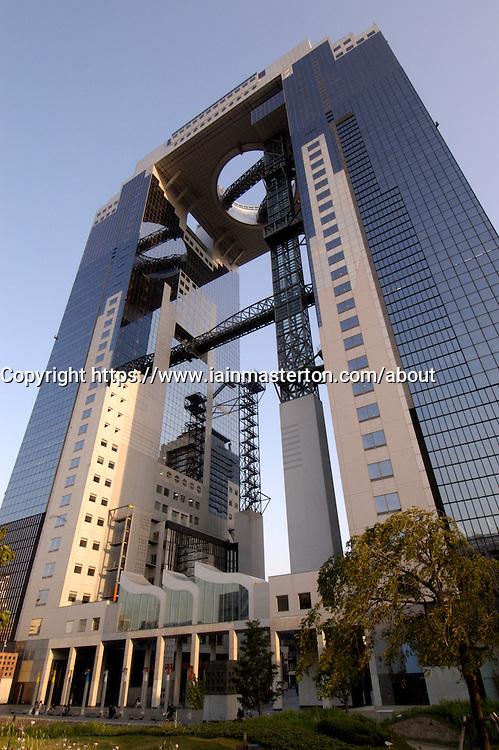 Skyscraper in Osaka city in Japan