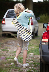 © Licensed to London News Pictures. 10/09/2018. Thame, UK. Rachel Johnson arrives at her brother Boris Johnson's Oxfordshire house to play tennis. Last week it was announced that Boris Johnson and his wife Marina Wheeler are getting divorced. Photo credit: Peter Macdiarmid/LNP