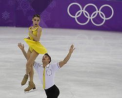 February 15, 2018 - Pyeongchang, KOREA - Kristina Astakhova and Alexei Rogonov of Olympic Athlete from Russia compete in pairs free skating during the Pyeongchang 2018 Olympic Winter Games at Gangneung Ice Arena. (Credit Image: © David McIntyre via ZUMA Wire)