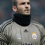 Galatasaray's goalkeeper Ufuk CEYLAN during their Friendly soccer match Galatasaray between Ajax at the Turk Telekom Arena at Arslantepe in Istanbul Turkey on Saturday 15 January 2011. Turkish soccer team Galatasaray new stadium Turk Telekom Arena opening ceremony. Photo by TURKPIX