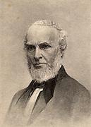 John Greenleaf Whittier (1807-1892) American poet, born at Haverhill, Massachusetts. A Quaker and an Abolutionist.  Engraving.