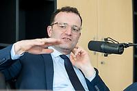 01 APR 2020, BERLIN/GERMANY:<br /> Jens Spahn, CDU, Bundesgesundheitsminister, waehrend einem Podcast-Interview, Bundesministerium der Gesundheit<br /> IMAGE: 20200401-02-030