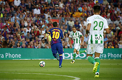 August 20, 2017 - Barcelona, Spain - Leo Messi during La Liga match between F.C. Barcelona v Alaves, in Barcelona, on September 10, 2016. Photo: Edi Capmany/Urbanandsport/Nurphoto  (Credit Image: © Urbanandsport/NurPhoto via ZUMA Press)