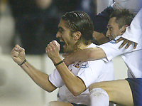 1/1/2005 - FA Barclays Premiership - Tottenham Hotspur v Everton - White Hart Lane<br />Tottenham Hotspur's Pedro Mendes celebrates scoring the third goal with team mate Robbie Keane<br />Photo:Jed Leicester/Back Page Images