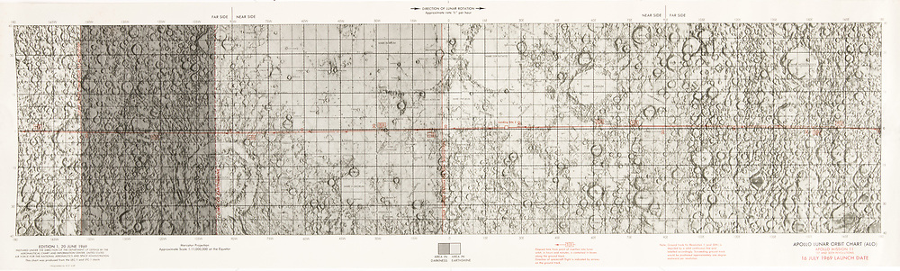 Apollo 11 Lunar Orbit Chart