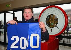 Trainer Gordon Elliott breaks celebrates two hundred winning horses for the season, after winning the Boylesports Irish Grand National Chase, during BoyleSports Irish Grand National Day of the 2018 Easter Festival at Fairyhouse Racecourse, Ratoath, Co. Meath.