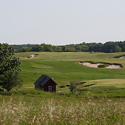 The Erin Hills Golf Course, a rolling and rugged course in Erin, Wisconsin, is home to the 2017 US Open and has a par 3, 19th hole that can be incorporated into play Please send licensing requests to legal@toddbigelowphotography.com
