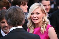 Kirsten Dunst,  at the On The Road gala screening red carpet at the 65th Cannes Film Festival France. The film is based on the book of the same name by beat writer Jack Kerouak and directed by Walter Salles. Wednesday 23rd May 2012 in Cannes Film Festival, France.