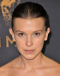 Millie Bobby Brown at the 69th Annual Emmy Awards held at the Microsoft Theater on September 17, 2017 in Los Angeles, CA, USA (Photo by Sthanlee B. Mirador/Sipa USA)