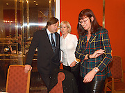 David Mellor, Sally Greene and Janet Street-Porter andOld Vic Lesley Garrett Literary Lunch. Savoy. 9 March 2001. © Copyright Photograph by Dafydd Jones 66 Stockwell Park Rd. London SW9 0DA Tel 020 7733 0108 www.dafjones.com