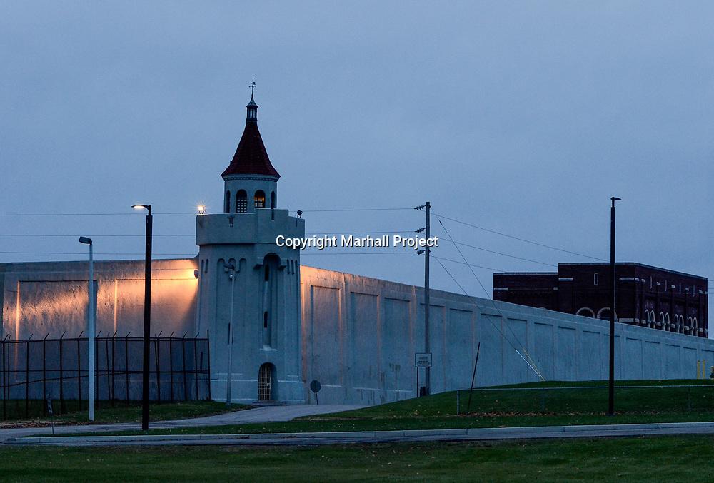The North East corner of Attica Prison in Attica, N.Y., Wedneday, Nov. 15, 2017. <br /> (Photo by Heather Ainsworth)