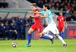 Eric Dier of England goes past Rene Krhin of Slovenia - Mandatory by-line: Robbie Stephenson/JMP - 11/10/2016 - FOOTBALL - RSC Stozice - Ljubljana, England - Slovenia v England - World Cup European Qualifier