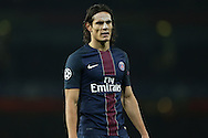 Edinson Cavani of Paris Saint-Germain with paint on his face. UEFA Champions league group A match, Arsenal v Paris Saint Germain at the Emirates Stadium in London on Wednesday 23rd November 2016.<br /> pic by John Patrick Fletcher, Andrew Orchard sports photography.