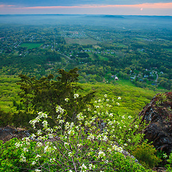 The view from Mount Tom in Holyoke, Massachuestts.  Mount Tom State Reservation. New England Trail