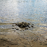Pile of rocks on the edge of Walden Pond