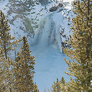 Upper falls of the Yellowstone River in Yellowstone National Park, Wyoming.