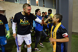September 19, 2018 - San Jose, California, United States - San Jose, CA - Wednesday September 19, 2018: Guram Kashia, Kick Childhood Cancer prior to a Major League Soccer (MLS) match between the San Jose Earthquakes and Atlanta United FC at Avaya Stadium. (Credit Image: © John Todd/ISIPhotos via ZUMA Wire)