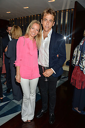 MARTHA WARD and WILL WELLS at a dinner to celebrate the start of The Season held at Rivea, Bulgari Hotel, 171 Kightsbridge, London on 18th May 2016.