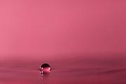 Floating droplet.