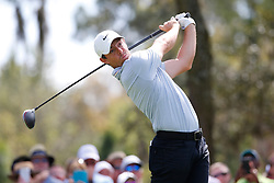 March 14, 2019 - Ponte Vedra Beach, FL, U.S. - PONTE VEDRA BEACH, FL - MARCH 14: Rory McIlroy of Northern Ireland hits a tee shot on the ninth hole during the first round of THE PLAYERS Championship on March 14, 2019 on the Stadium Course at TPC Sawgrass in Ponte Vedra Beach, Fl. (Photo by David Rosenblum/Icon Sportswire) (Credit Image: © David Rosenblum/Icon SMI via ZUMA Press)