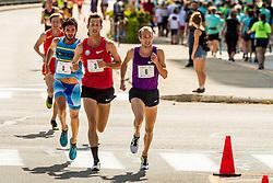 Dan Huling, Dathan Ritzenhein, David Torrence battle for the win