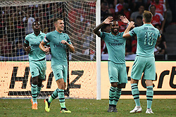 2018?7?28?.??????——?????????????????????????..7?28????????Alexandre Lacazette?9????????Rob Holding?16?????????????????????????????.???? ??????..Arsenal player Alexandre Lacazette (No 9, R2) celebrates with teammate Rob Holding (No 16, R1) in the International Champions Cup match between Arsenal and Paris Saint-Germain held in Singapore's National Stadium on Jul 28, 2018..By Xinhua, Then Chih Wey..??????????2018?7?28? (Credit Image: © Then Chih Wey/Xinhua via ZUMA Wire)