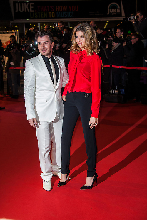 Micheal Youn ,Isabelle Funaro  sur le tapie rouge des NRJ music awards a Cannes.Micheal Youn ,Isabelle Funaro  attends the red carpert for the NRJ Musc Awards.