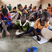 Children in school in Bolgatanga, Ghana.  Many ofthe children are helped by the local ngo Afrikids to fund their way through school.