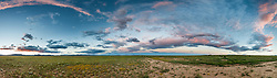 Dramatic sky above shortgrass prairie, Vermejo Park Ranch, New Mexico, USA.