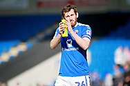 Chesterfield midfielder Jak McCourt (26) claps the fans after the EFL Sky Bet League 2 match between Chesterfield and Notts County at the Proact stadium, Chesterfield, England on 25 March 2018. Picture by Nigel Cole.