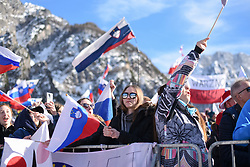 March 22, 2019 - Planica, Slovenia - Spectators are seen cheering during the FIS Ski Jumping World Cup Flying Hill Individual competition in Planica. (Credit Image: © Milos Vujinovic/SOPA Images via ZUMA Wire)
