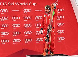 05.03.2017, Podkoren, Kranjska Gora, SLO, FIS Weltcup Ski Alpin, Kranjska Gora, Slalom, Herren, Siegerehrung, im Bild Marcel Hirscher (AUT) // Marcel Hirscher of Austria during the winner Ceremony for the men's Slalom of FIS Ski Alpine World Cup at the Podkoren in Kranjska Gora, Slovenia on 2017/03/05. EXPA Pictures © 2017, PhotoCredit: EXPA/ Johann Groder