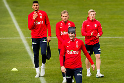 October 9, 2018 - LillestrØM, NORWAY - 181009 Bjørn Maars Johnsen, Iver Fossum, HÃ¥vard Nordtveit and Mats Møller Dæhli of Norway during a training session on October 9, 2018 in Lillestrøm..Photo: Jon Olav Nesvold / BILDBYRÃ…N / kod JE / 160321 (Credit Image: © Jon Olav Nesvold/Bildbyran via ZUMA Press)