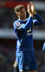 Everton's Ross Barkley applauds the away fans at full time