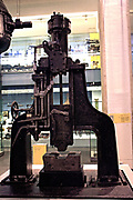 Nasmyth Steam Hammer, circa 1850. A large tool used for shaping wrought iron. Originally invented by Francois Bourdon from Le Creusot ironworks, but James Nasmyth managed to publicise the invention as his own.