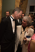 SIR NICHOLAS SEROTA; MAGGI HAMBLING, Professor Mikhail Piotrovsky Director of the State Hermitage Museum, St. Petersburg and <br /> Inna Bazhenova Founder of In Artibus and the new owner of the Art Newspaper worldwide<br /> host THE HERMITAGE FOUNDATION GALA BANQUET<br /> GALA DINNER <br /> Spencer House, St. James's Place, London<br /> 15 April 2015