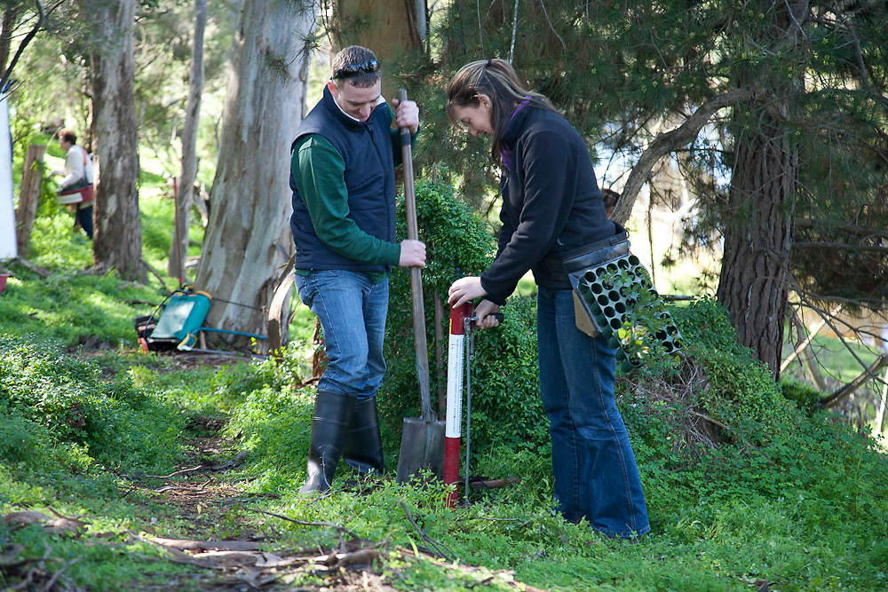 Geelong, Australia, 6th August 2010: Brave & Jungle Boys Productions  shoot scenes at Lilydale Sanctuary in Geelong for a TVC  as part of a campaign for Landcare Australia..Photo: Joseph Feil