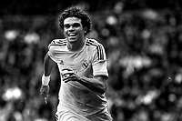Real Madrid's Pepe during a Spanish La Liga soccer match between Real Madrid and Granada at Santiago Bernabeu stadium in Madrid, Spain. January 25, 2014. (ALTERPHOTOS/Caro Marin)(EDITORS NOTE: This image has been converted to black and white)