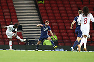 Portugal forward Bruma (7) (RB Leipzig) score Portugal third goal 0-3during the Friendly international match between Scotland and Portugal at Hampden Park, Glasgow, United Kingdom on 14 October 2018.