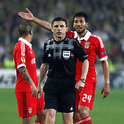 Referee's Milorad Mazic during their UEFA Europa League Semi Final first match Fenerbahce between Benfica at Sukru Saracaoglu stadium in Istanbul Turkey on Thursday 25 April 2013. Photo by Aykut AKICI/TURKPIX