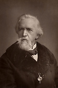 George Jacob Holyoake (1817-1906) English secularist and social reformer.  The last person in England to be imprisoned for atheism (1842). Active in the Co-operative movement. From 'The Cabinet Portrait Gallery' (London, 1890-1894).  Woodburytype after photograph by W & D Downey.
