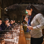 Carine Desrante, a buyer at Martell Cognac, the region's oldest great house, conducts a tasting session with growers from the rgion. Martell works with 1,200 suppliers across the Cognac region and supplies its luxury spirits around the world, especially in the USA and China.In 1715, Jean Martell, a young merchant originally from Jersey, created his own trading business at Gatebourse in Cognac, on the banks of the Charente River, and thus founded one of the very first cognac houses. Martell used grapes from the vineyards in the Borderies subregion, and used Tronçais oak for its casks, this made a combination that resulted in an exceptionally smooth cognac.